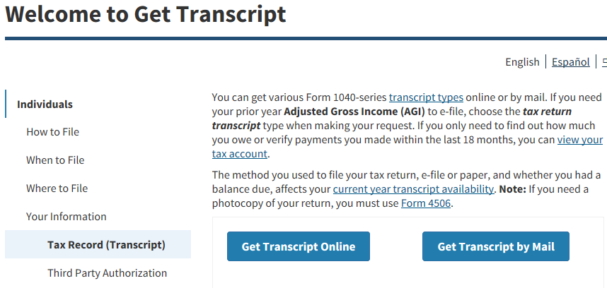 Panther360 Article: Financial Aid: Order Your IRS Tax Transcript